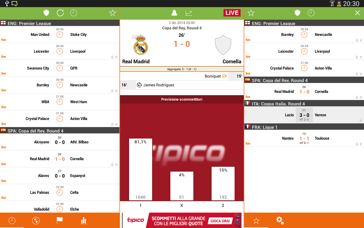 Futbol24- screenshot