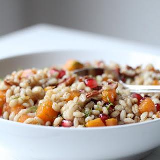 Warm Salad with Barley Pearl.