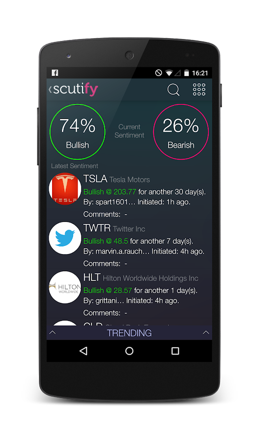 Scutify Sentiment- screenshot