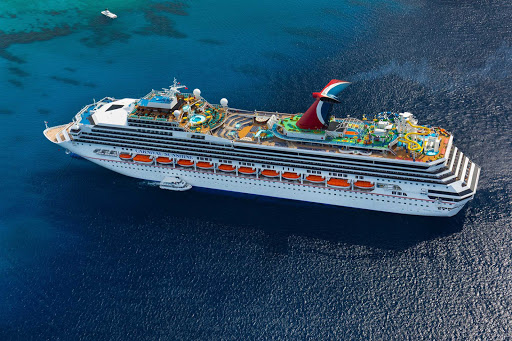 Carnival-Sunshine-Anchored - Carnival Sunshine sails to the tropical, sun-drenched ports of the Caribbean and Central America, including Mexico, Roatan and Belize.