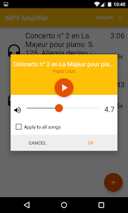 MP3 Amplifier - screenshot thumbnail