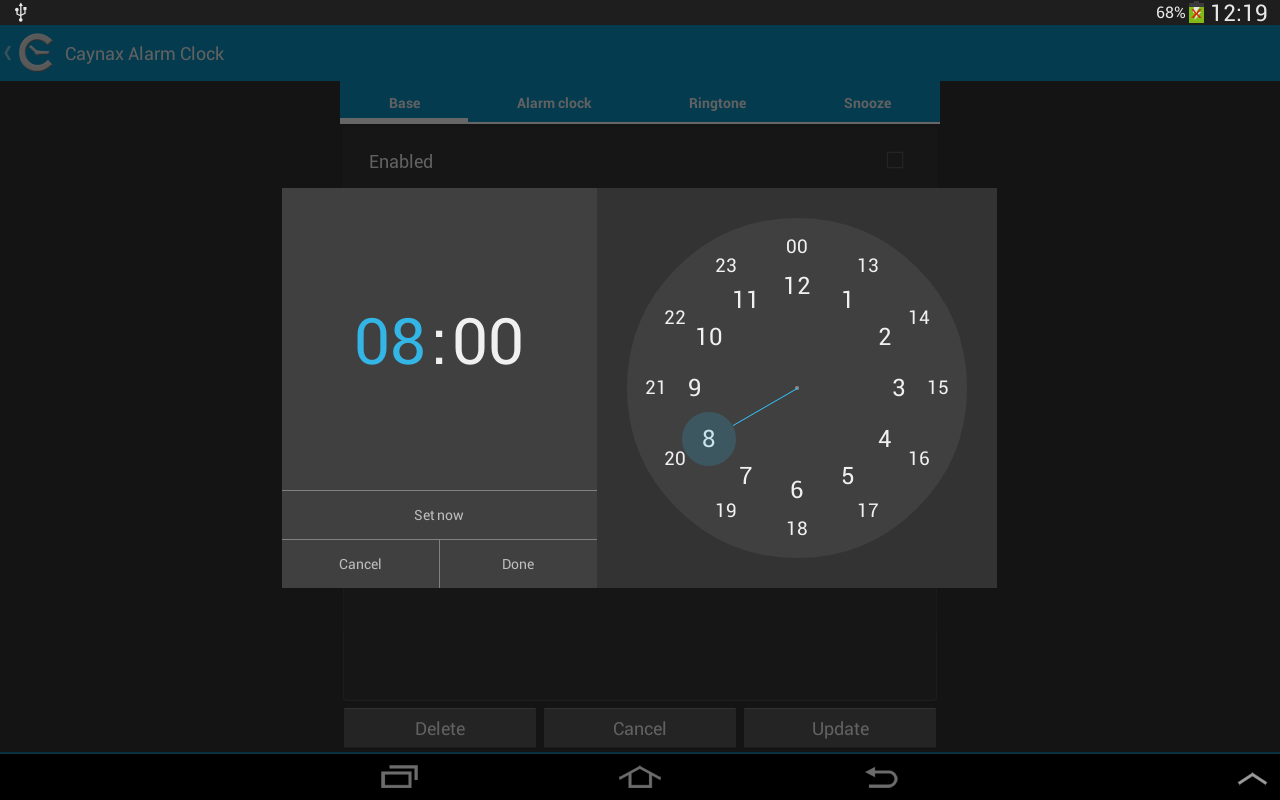 Free alarm clock - screenshot