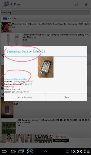 E-bay Hidden Auctions screenshot