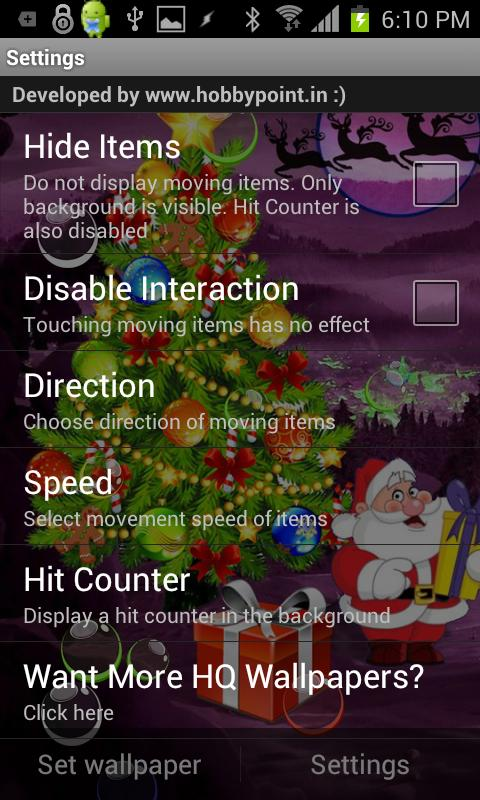 Santa Xmas Bubble Gifts HQ LWP- screenshot
