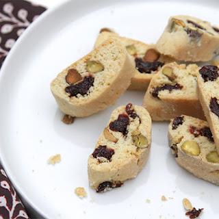 Pistachio Biscotti With Kirsch-soaked Dried Cherries