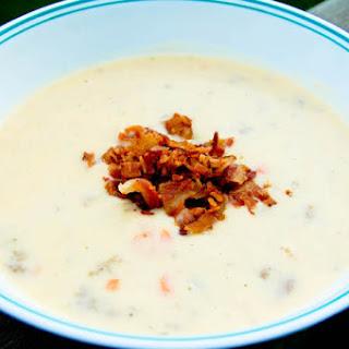 Cheesy Beefy Potato Soup.