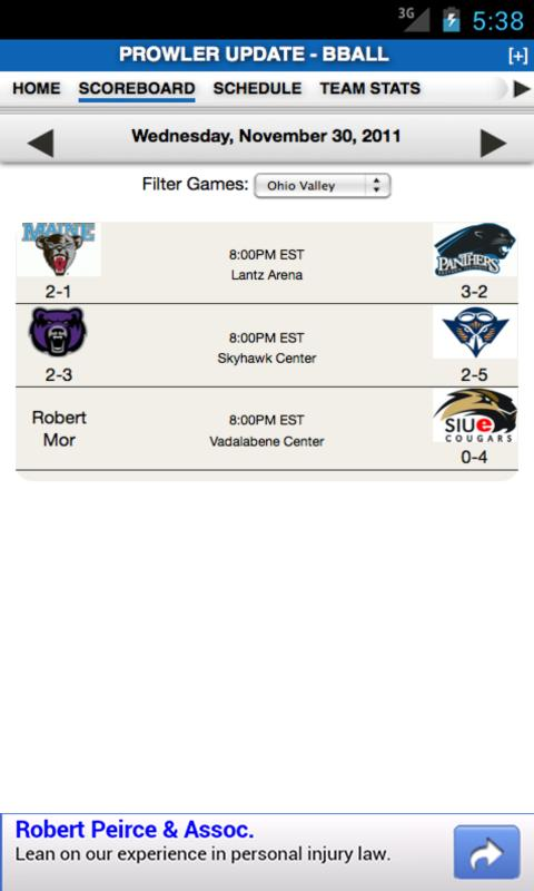 EIU Football & Basketball - screenshot