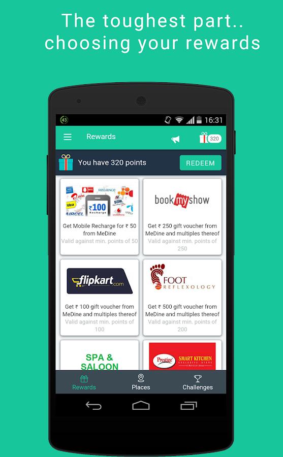 MeDine: Rewards for Check-ins - screenshot