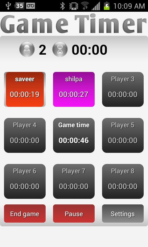 Game Timer- screenshot