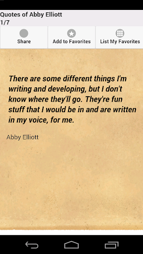 Quotes of Abby Elliott