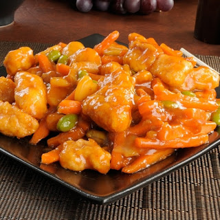 Homemade Sweet and Sour Chicken.