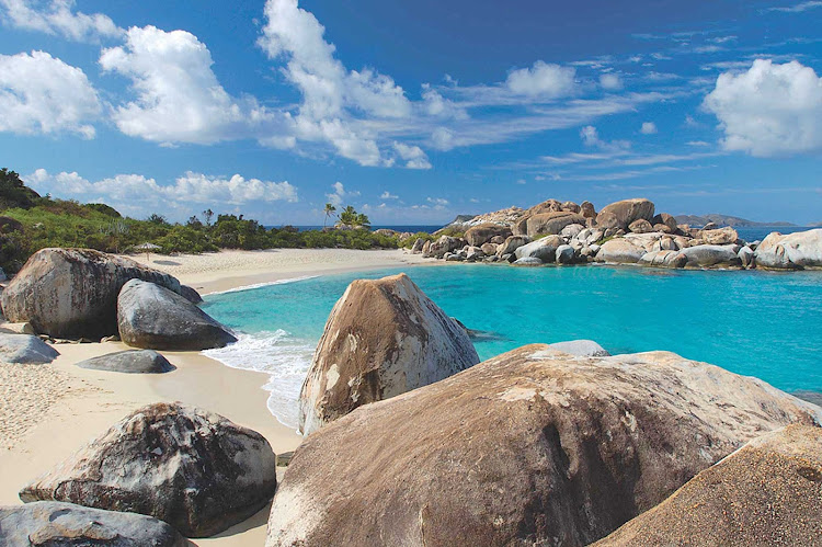 The Baths at Virgin Gorda in the British Virgin Islands, one of the highlights of a SeaDream cruise.