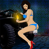 Bikini Cheerleader Jeep