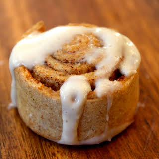 Spelt Cinnamon Rolls with Cinnamon Cream Cheese Frosting.