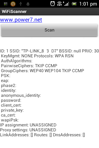 WiFi Scanner Analyser Unlocker - screenshot