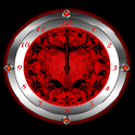 Red Valentine Clock icon