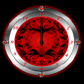Red Valentine Clock