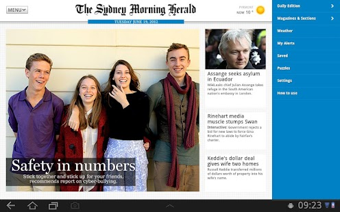 The SMH App for Tablet- screenshot thumbnail