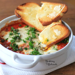 Eggs in Purgatory for Valentine's Day Recipes for Two #SundaySupper