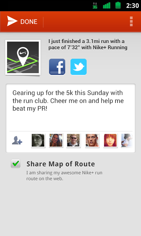 Nike+ Running- screenshot