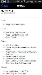 URI Dining Services - screenshot thumbnail