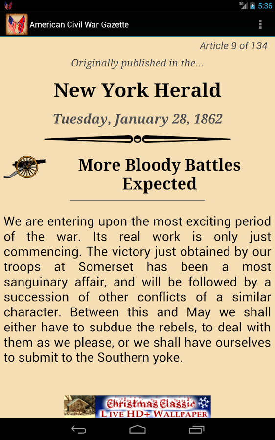 1862 Jan Am Civil War Gazette - screenshot