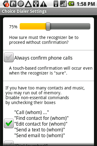Choice Dialer Plus - screenshot