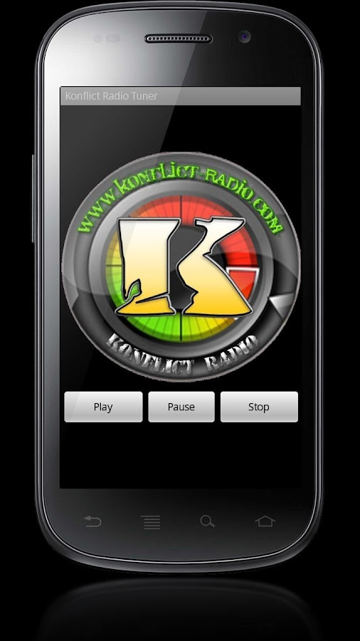 Konflict Radio Tuner App - screenshot
