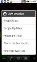 Screenshot of My Location Widget