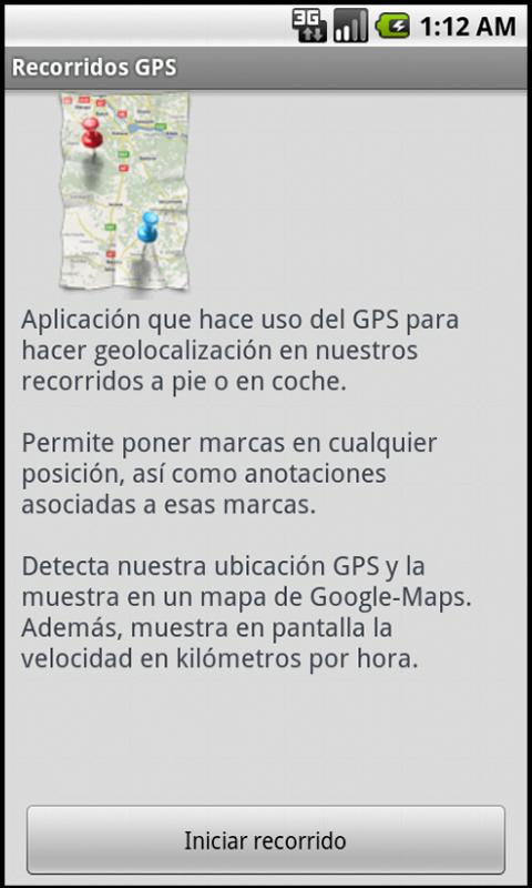 Recorridos GPS - screenshot