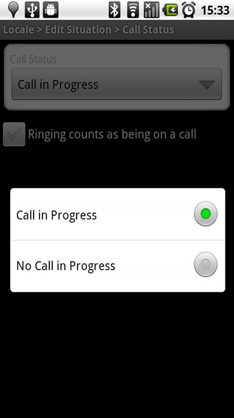 Locale Call Status Plug-In - screenshot