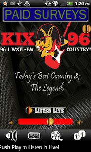 WXFL FM Kix 96 Country Radio - screenshot thumbnail
