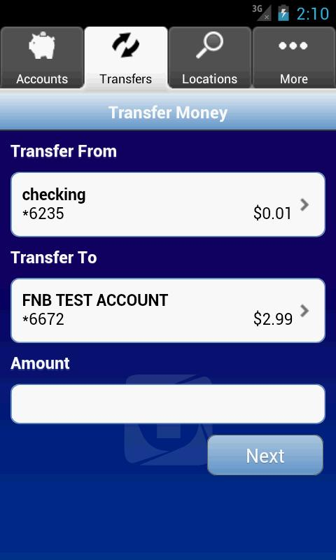FNB Mobile Banking - screenshot