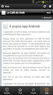 Le Café Du geek- screenshot thumbnail
