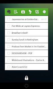 Evernote Widget- screenshot thumbnail