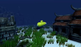 Screenshot of Flappy Submarine Temple 3D