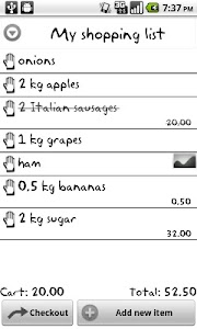 My Shopping List Free screenshot 0
