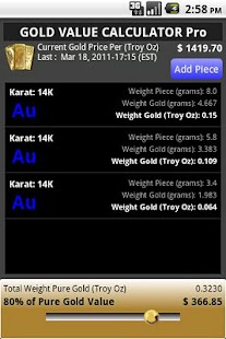 GOLD VALUE CALCULATOR Pro - screenshot thumbnail