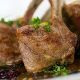 Lamb Cutlets With A Rich Red Wine Reduction