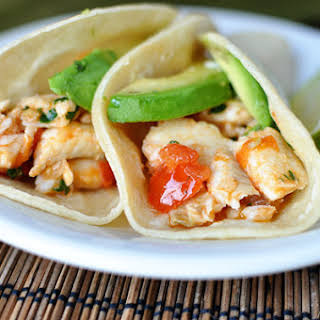 Skillet Cilantro and Lime Fish Tacos.