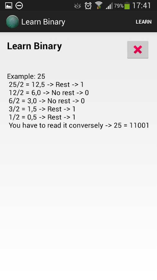 Binary Converter - screenshot
