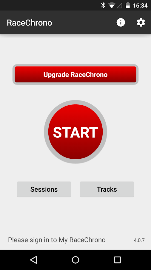 RaceChrono - screenshot