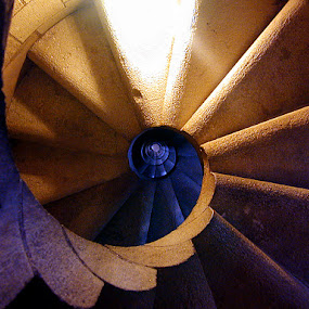 Sagrada Famillia by Matt Hulland - Buildings & Architecture Architectural Detail ( stairs, cathedral, steps, spiral, barcelona, spain )