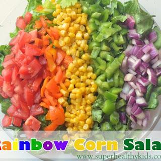 Eating the Rainbow with Corn Salad.