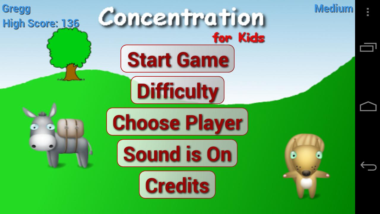 Concentration for Kids Ad Free- screenshot