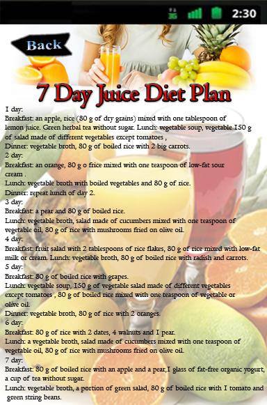 Juicer Diet Plan How To Gain Weight Meal