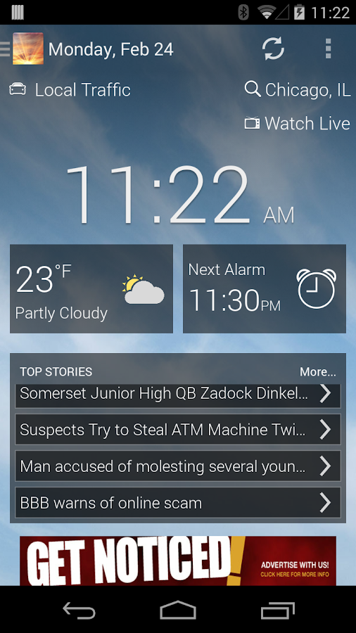 WZTV AM NEWS AND ALARM CLOCK - screenshot