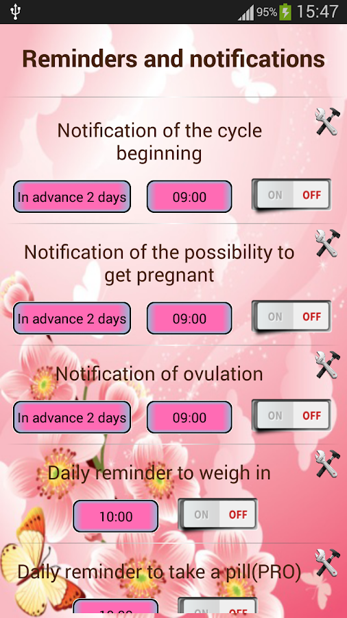 Woman diary (calendar)- screenshot
