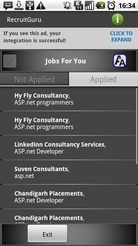 My Jobs (Tablet Version) - screenshot