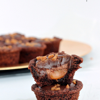Double Chocolate Caramel Cookie Cups